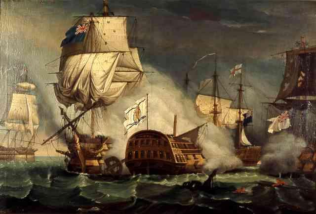 Combate cabo Santa María Ships
