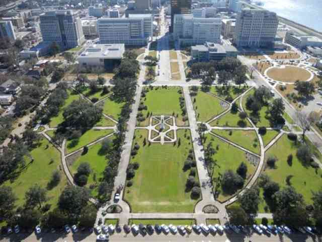 Ariel view of Capitol Park in Baton Rouge