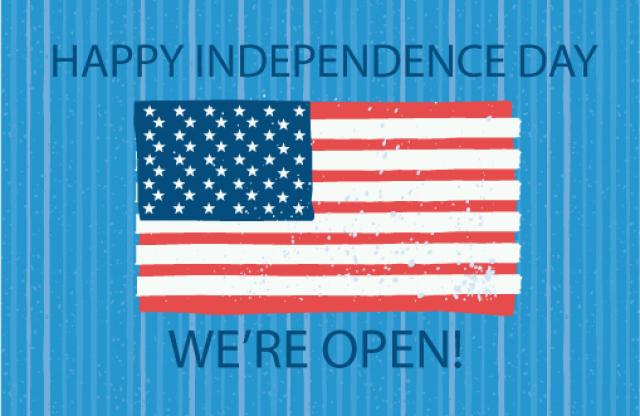 We're Open July 4