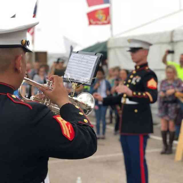 The Marine Forces Reserve Brass Band