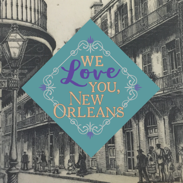 We Love You New Orleans exhibit