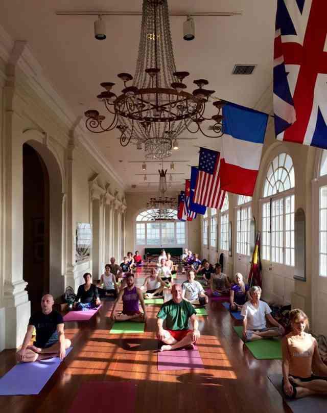 Yoga at the Cabildo