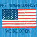 We're Open July 4